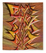 0695 Abstract Thought Fleece Blanket