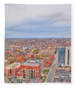 09 Series Of Buffalo Ny Via Birds Eye Fleece Blanket