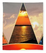 0a Relaxing Sunsets Collage Fleece Blanket