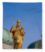 Towers Of Frauenkirche Fleece Blanket