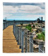 001 Peace Bridge Series Fleece Blanket