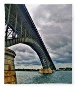 009 Stormy Skies Peace Bridge Series Fleece Blanket
