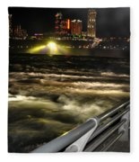012 Niagara Falls Usa Rapids Series Fleece Blanket