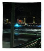09 Niagara Falls Usa Rapids Series Fleece Blanket