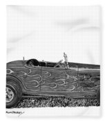 1932 Ford Hi Boy Hot Rod Fleece Blanket