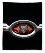 1973 Jaguar Type E Emblem Fleece Blanket