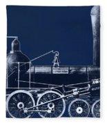 19th Century Locomotive Fleece Blanket
