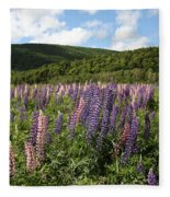 A Field Of Lupins Fleece Blanket