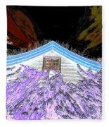 A Flowery House In Norway Fleece Blanket