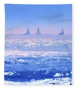 A Good Day For Sailing Fleece Blanket