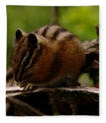 A Little Chipmunk Fleece Blanket