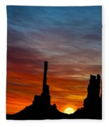 A New Day At The Totem Poles Fleece Blanket