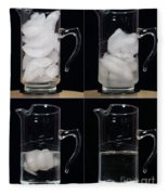 A Pitcher Of Ice Melts Over 4 Hours Fleece Blanket