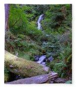 A Small Waterfall Fleece Blanket
