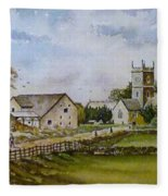 A Sunday Stroll Fleece Blanket
