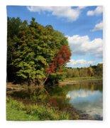 A Touch Of Autumn Fleece Blanket
