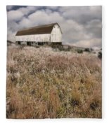 Abandoned Barn Fleece Blanket