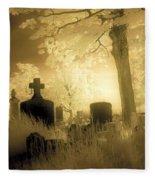 Abandoned And Overgrown Cemetery Fleece Blanket