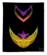 Abstract Fifty-five Fleece Blanket