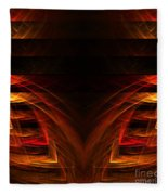 Abstract Forty-eight Fleece Blanket