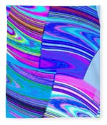 Abstract Fusion 44 Fleece Blanket