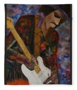 Abstract Jimi Hendrix Fleece Blanket