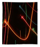Abstract Motion Lights Fleece Blanket