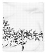Advertising Art: Wreath Fleece Blanket