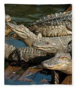 Alligator Pool Party Fleece Blanket
