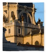 Almudena Cathedral In Madrid Fleece Blanket