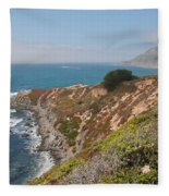 Along Big Sur Fleece Blanket