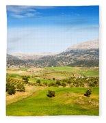Andalusia Landscape In Spain Fleece Blanket