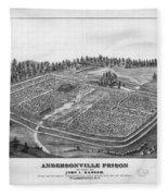 Andersonville Prison, 1864 Fleece Blanket