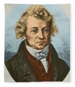Andre Marie Amp�re, French Physicist Fleece Blanket