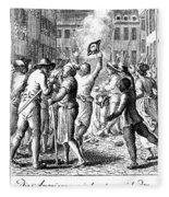 Anti-stamp Act, Boston, 1765 Fleece Blanket