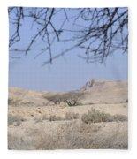 Aravah Desert Landscape  Fleece Blanket
