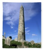Ardmore Round Tower, Ardmore, Co Fleece Blanket