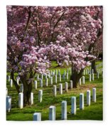 Arlington Cherry Trees Fleece Blanket