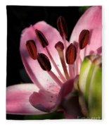 Asiatic Lily Named Vermeer Fleece Blanket
