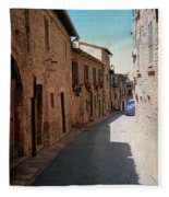 Assisi Italy Fleece Blanket