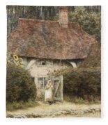 At The Cottage Gate Fleece Blanket