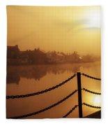 Athlone, County Westmeath, Ireland Dock Fleece Blanket