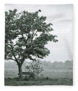 August In England Fleece Blanket
