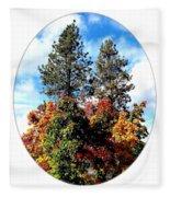 Autumn Beginnings Fleece Blanket