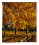 Autumn Fence Fleece Blanket
