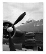 B25 Bomber Fleece Blanket