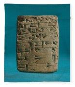 Babylonian Clay Tablet Fleece Blanket