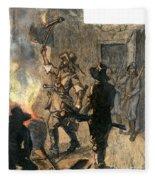 Bacons Rebellion, 1676 Fleece Blanket