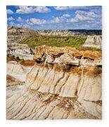 Badlands In Alberta Fleece Blanket