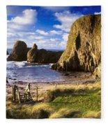 Ballintoy, County Antrim, Ireland Beach Fleece Blanket